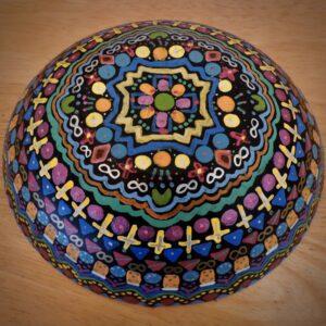"Santa Fe Marketplace ""Blessings""Chili Rose Meditation Bowl by Adonnah Langer"