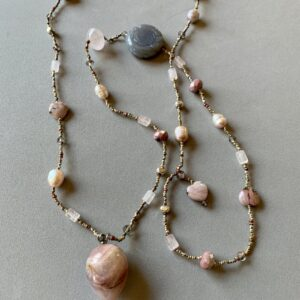 Santa Fe Marketplace Rose Quartz and Other Pinks Necklace