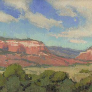 Santa Fe Marketplace Chama Overlook – Original Plein Air oil painting