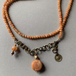 Santa Fe Marketplace Sunstone Bead Necklace