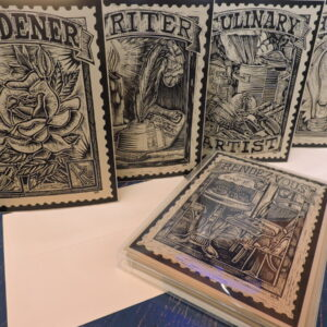 Santa Fe Marketplace Printed cards Scraper Board Series one by William Rotsaert