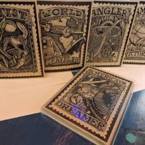 Santa Fe Marketplace Printed Cards Scraper Board Series two by William Rotsaert
