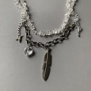 Santa Fe Marketplace Clear Quartz Bead Necklace