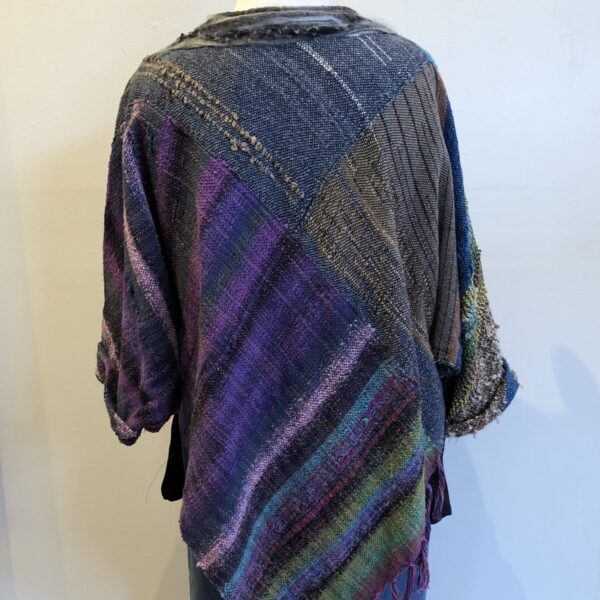 Santa Fe Marketplace Handwoven Top with Felted Collar