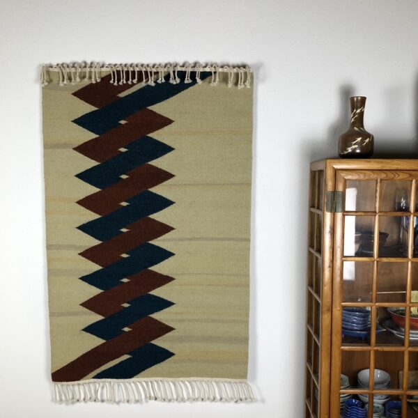 "Santa Fe Marketplace Handwoven Rio Grande Weaving: ""Helix"""