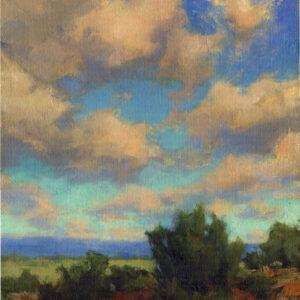 Santa Fe Marketplace High Flying- Original oil painting