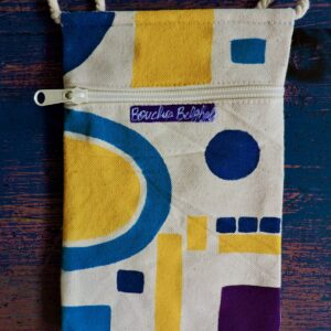 "Santa Fe Marketplace ""Hope"" Canvas pouch by Bouchra Belghali"