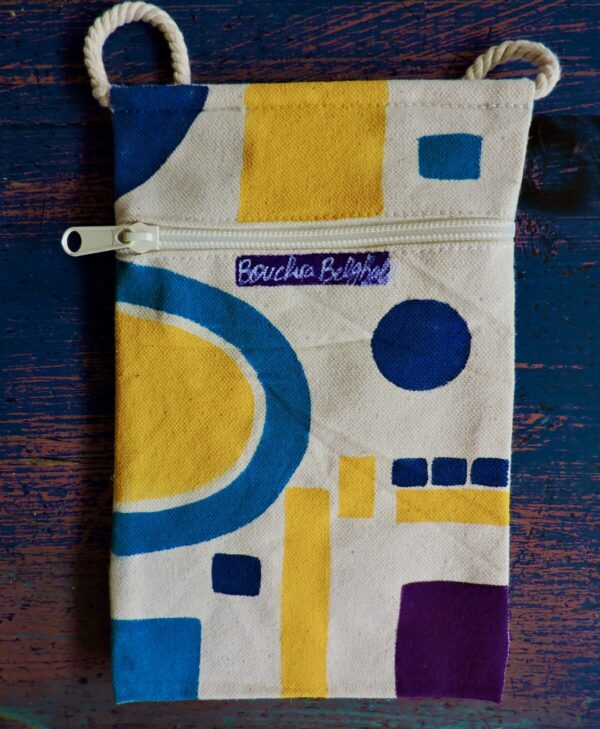 """Santa Fe Marketplace """"Hope"""" Canvas pouch by Bouchra Belghali"""