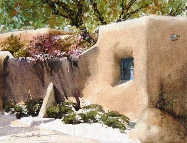 Santa Fe Marketplace Lilacs In Santa Fe – Art Print