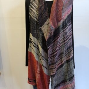 Santa Fe Marketplace Handwoven Long Cotton Vest