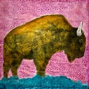 Santa Fe Marketplace King of the Plains – Original Mixed Media Art