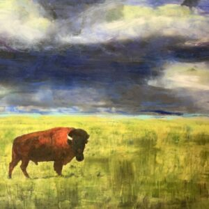 Santa Fe Marketplace Lord Of The Plains – Original Mixed Media Art