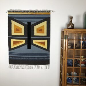 "Santa Fe Marketplace Handwoven Rio Grande Wall Hanging: ""Mariposa"""