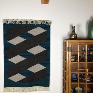 "Santa Fe Marketplace Handwoven Rio Grande Weaving: ""Mobius"""