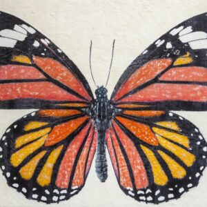 Santa Fe Marketplace Monarch Butterfly – Original Mixed Media Art