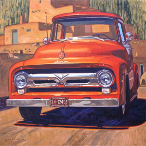 Santa Fe Marketplace Red Truck Overdrive