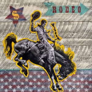 Santa Fe Marketplace Rodeo Star – Original Mixed Media Art