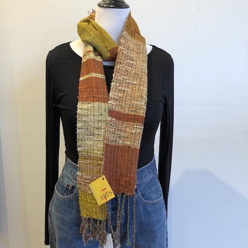 Santa Fe Marketplace Handwoven Cotton and Bamboo Scarf