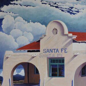 "Santa Fe Marketplace ""Santa Fe Depot"" Fine Art by William Rotsaert"