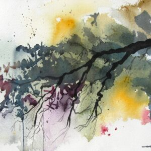 Santa Fe Marketplace Spring Wilderness – Watercolor Painting