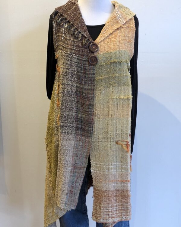 Santa Fe Marketplace Handwoven Long Vest