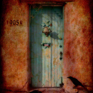 Santa Fe Marketplace Textured Photograph by Karen Waters 'Tapping At My Door'