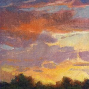 Santa Fe Marketplace Twilight New Mexico – Original oil painting
