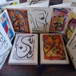 Santa Fe Marketplace Printed Cards vision one by Bouchra Belghali