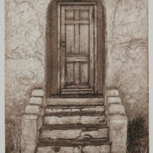 """Santa Fe Marketplace """"Entren Todos"""" – Hand Pulled Copper Etching"""