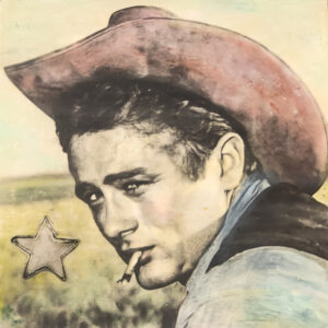 Santa Fe Marketplace James Dean in Giant – Original Mixed Media Art