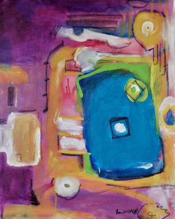 "Santa Fe Marketplace ""My Window"" Giclee on Canvas by Bouchra Belghali"