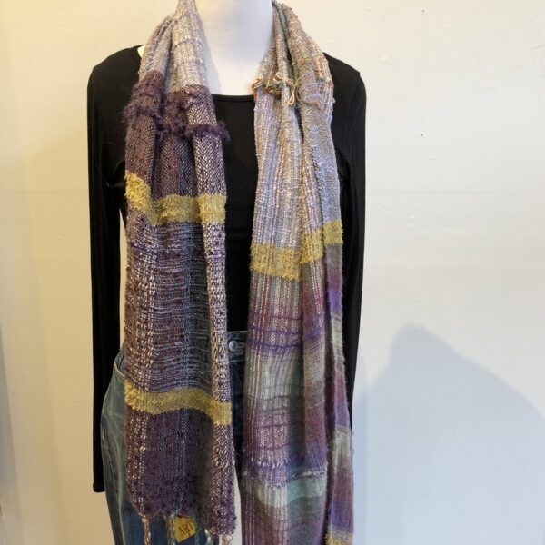 Santa Fe Marketplace Handwoven Cotton and Wool Scarf