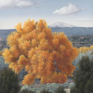 """Santa Fe Marketplace """"Tardeser"""" Original Art – Oil Base Monotype & Soft Pastel – Unframed"""