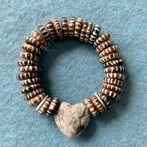 Santa Fe Marketplace Agate Heart Bracelet