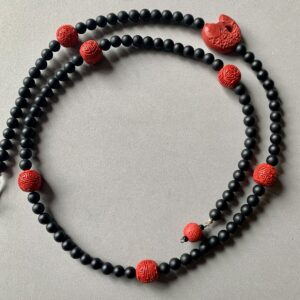 Santa Fe Marketplace Cinnabar and Onyx Necklace