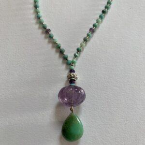 Santa Fe Marketplace Green Moss Opal Necklace