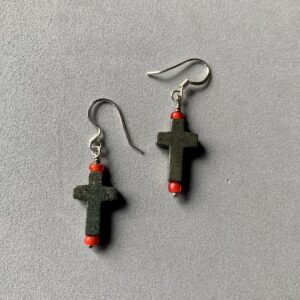 Santa Fe Marketplace Pyrite Cross Earrings