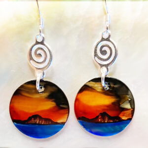 Santa Fe Marketplace Fire Sky Earring