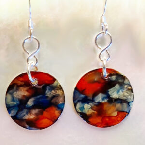 Santa Fe Marketplace Red Granite Earring