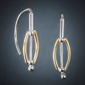 "Santa Fe Marketplace ""Ellipse"" French Wire Earrings"