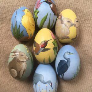 Santa Fe Marketplace Hand Painted Wooden Eggs