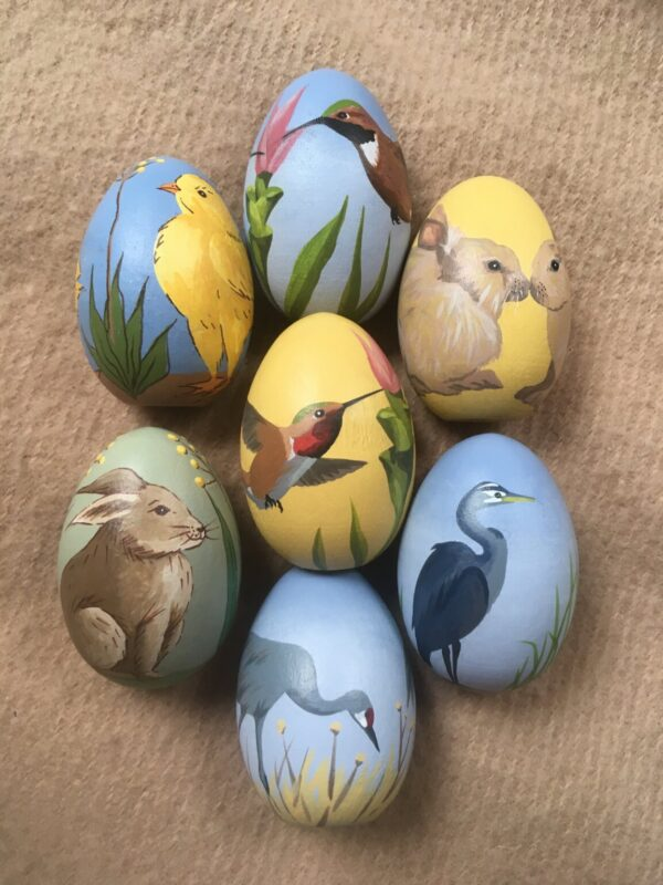 Santa Fe Marketplace Hand Painted Wooden Eggs