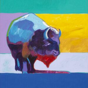 Santa Fe Marketplace Buffalo Medicine II by John Nieto