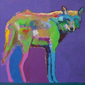 Santa Fe Marketplace Mexican Wolf Medicine by John Nieto