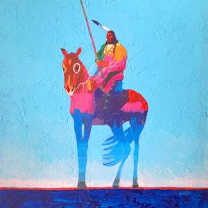Santa Fe Marketplace War Pony by John Nieto