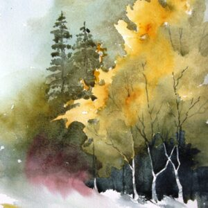 Santa Fe Marketplace Pecos River Wilderness – Original Watercolor Painting