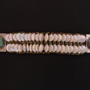 """Santa Fe Marketplace """" Spring and Summer"""" Chili Rose bracelet by Adonnah Langer"""