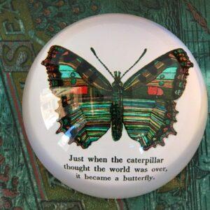 Santa Fe Marketplace Decoupage Butterfly Paperweight