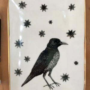 Santa Fe Marketplace Kiki Smith Bird with Stars Porcelain Tray