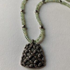 Santa Fe Marketplace Faceted Prehnite Beaded Necklace